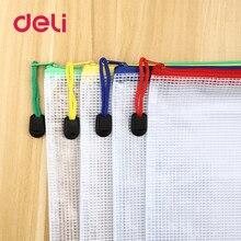 Bag File-Folder Pencil-Pen-Case Zipper Plastic Document-Bag Book Paper Student-Supplies