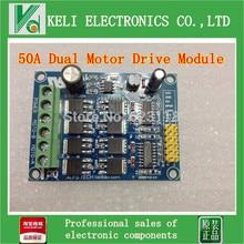 Free Shipping 1pcs 50A Dual Motor Drive Module for Arduino Samrt Car Power H-bridge Strong Brake Function new
