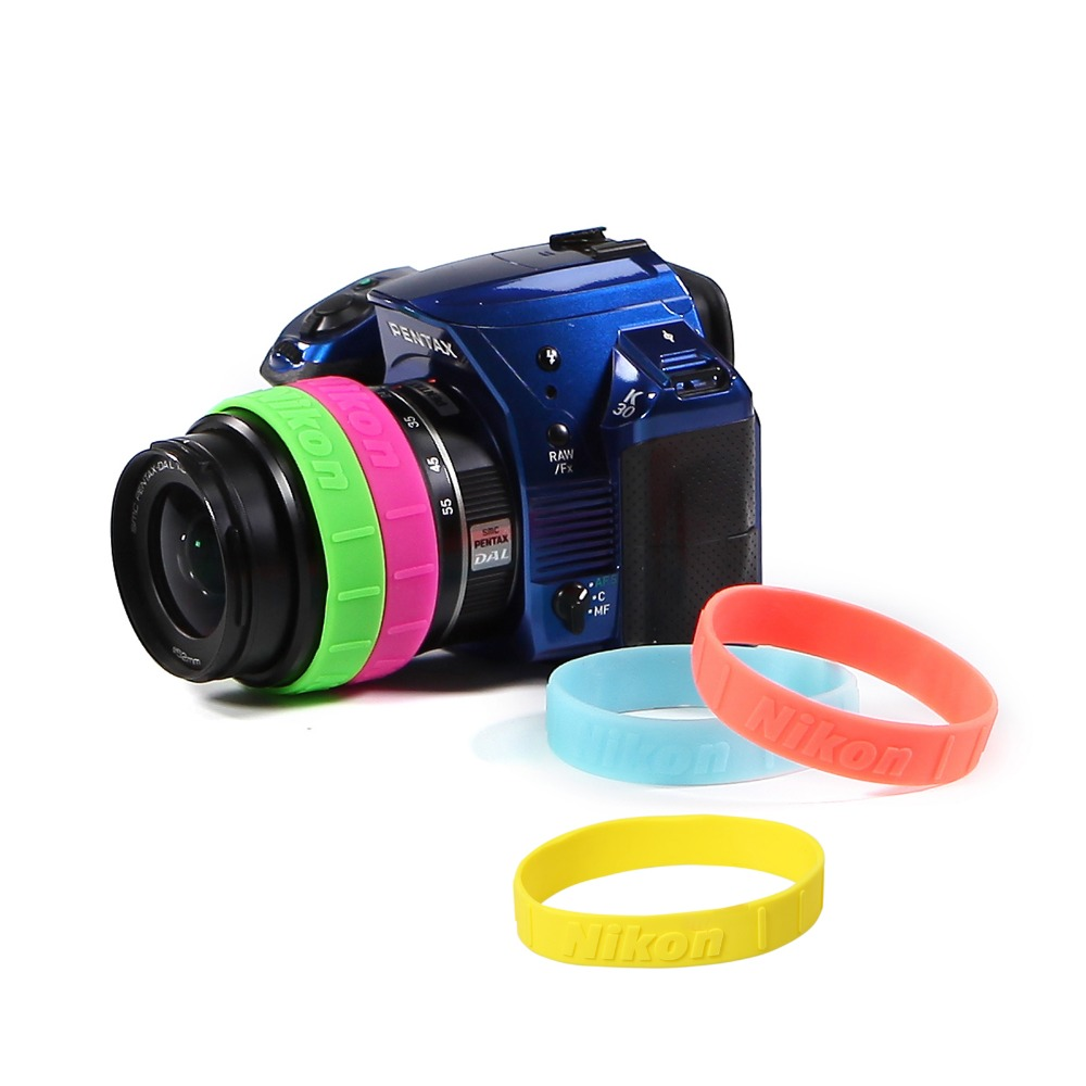 Meking Colorful Silicone Follow Focus Ring for DSLR Lens Filter Anti-slip Zooming Control Rubber Band