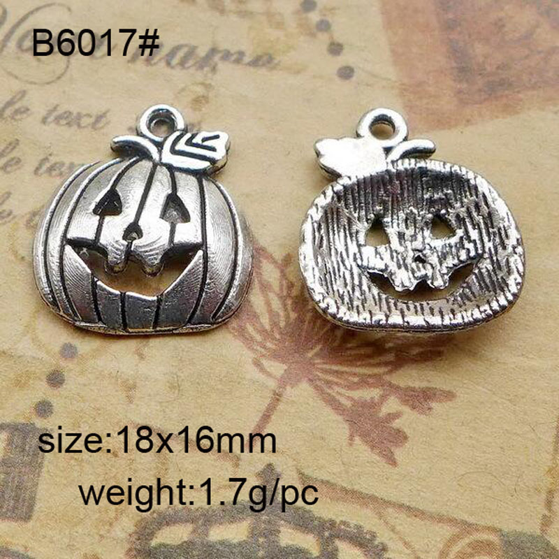25pcs/lot  Alloy Charms Antique Silver Plated Pumpkin Pendant Handmade Hanging Crafts