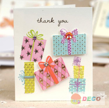 Aliexpress buy 75x 9cmgood quality small thank you cards 75x 9cmgood quality small thank you cards greeting card with envelope m4hsunfo