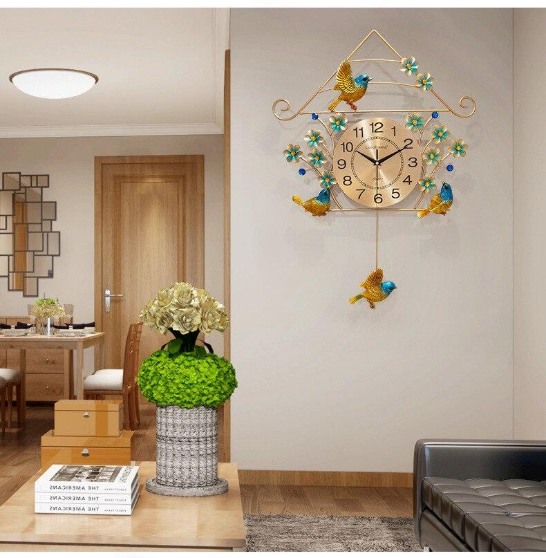 Большие золотые настенные часы в винтажном стиле для гостиной в скандинавском стиле, современные минималистичные настенные часы, роскошны... - 4