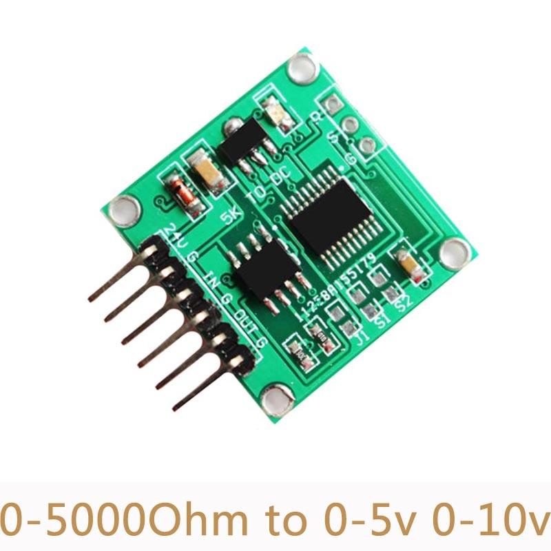 Потенциометр, сопротивление к напряжению, модуль 0-5000 Ом до 0-10 в 0-5 В, линейный трансмиттер-трансмиттер, сбор данных SC09