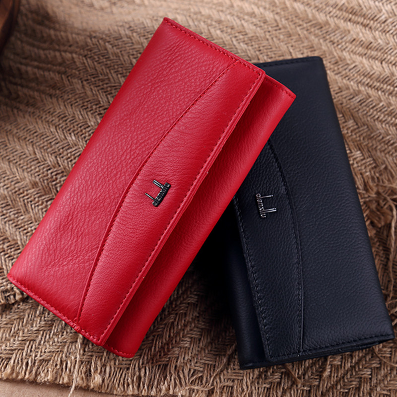 Fashion Brand Women Wallet Genuine Leather High Quality Coin Purse Female Cowhide