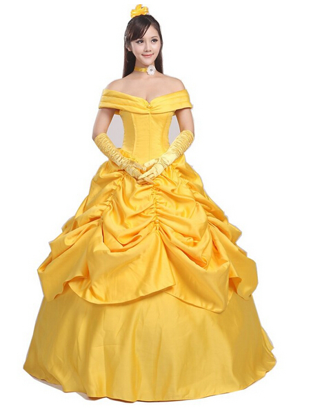 beauty and the beast costume women adult princess belle costume cosplay halloween costumes for. Black Bedroom Furniture Sets. Home Design Ideas