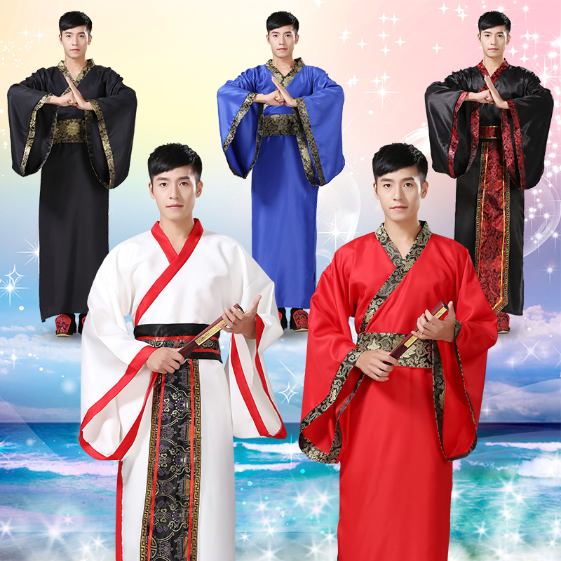Hanfu Traditional Chinese Costume Men Stage Rave Outfit For Dancer Folk Festival Clothes Male Dance Performance Clothing DC1144