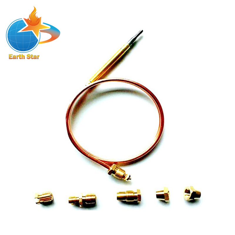900mm Gas Stove Universal thermocouple kit m6x0.75 with Spilt nuts (FIVE) replacement thermocouple