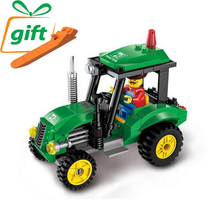 City Construction Tractor Building Blocks Kids Toy Children Educational Toys Gift 112pcs Blocks Compatible Legoe