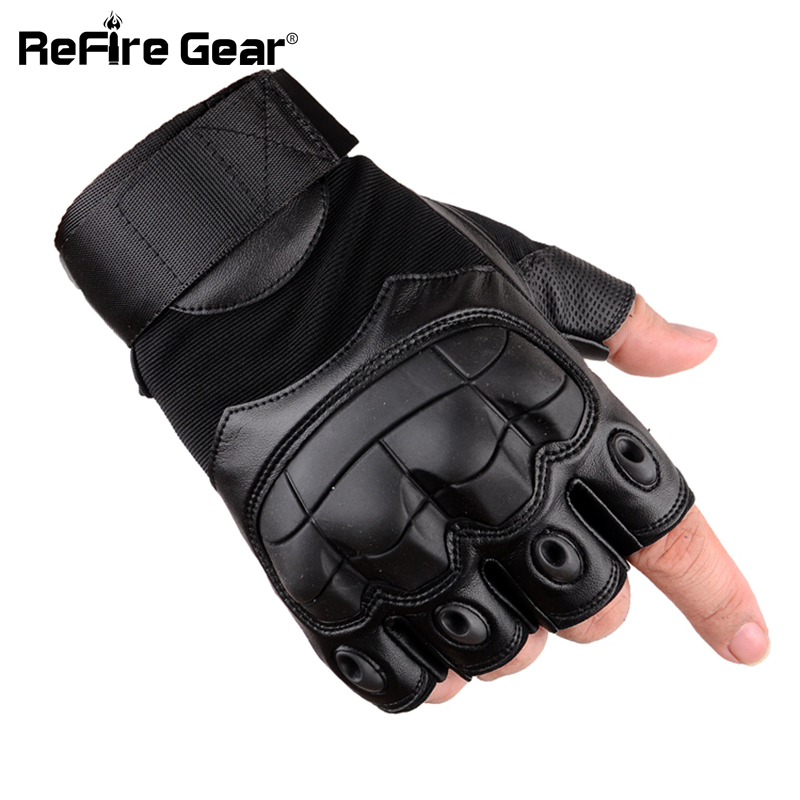 Combat Military Tactical Motorcycle Gloves Men Soft Fingerless Leather Gloves for male Soldier Army Paintball Half Finger Gloves leather