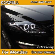 KOWELL Auto Styling für Ford Mondeo LED Scheinwerfer Neue Mondeo 2007 2008 2009 2012 DRL H7 D2H Hid Option engel Auge Bi Xenon Strahl