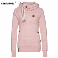 2017 New Winter Autumn Women S Fleece Deer Printed Hoodies Sweatshirts Coats Fashion Casual Sports Hooded