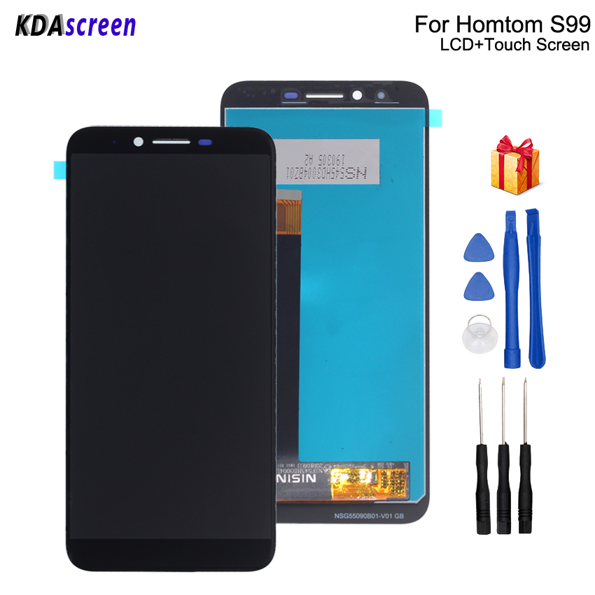 Original For HOMTOM S99 LCD Display Touch Screen Replacement For HOMTOM S99 Screen LCD Display Phone Parts Free Tools(China)