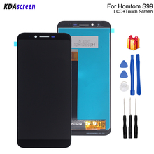 Original For HOMTOM S99 LCD Display Touch Screen Replacement For HOMTOM S99 Screen LCD Display Phone Parts Free Tools цена 2017