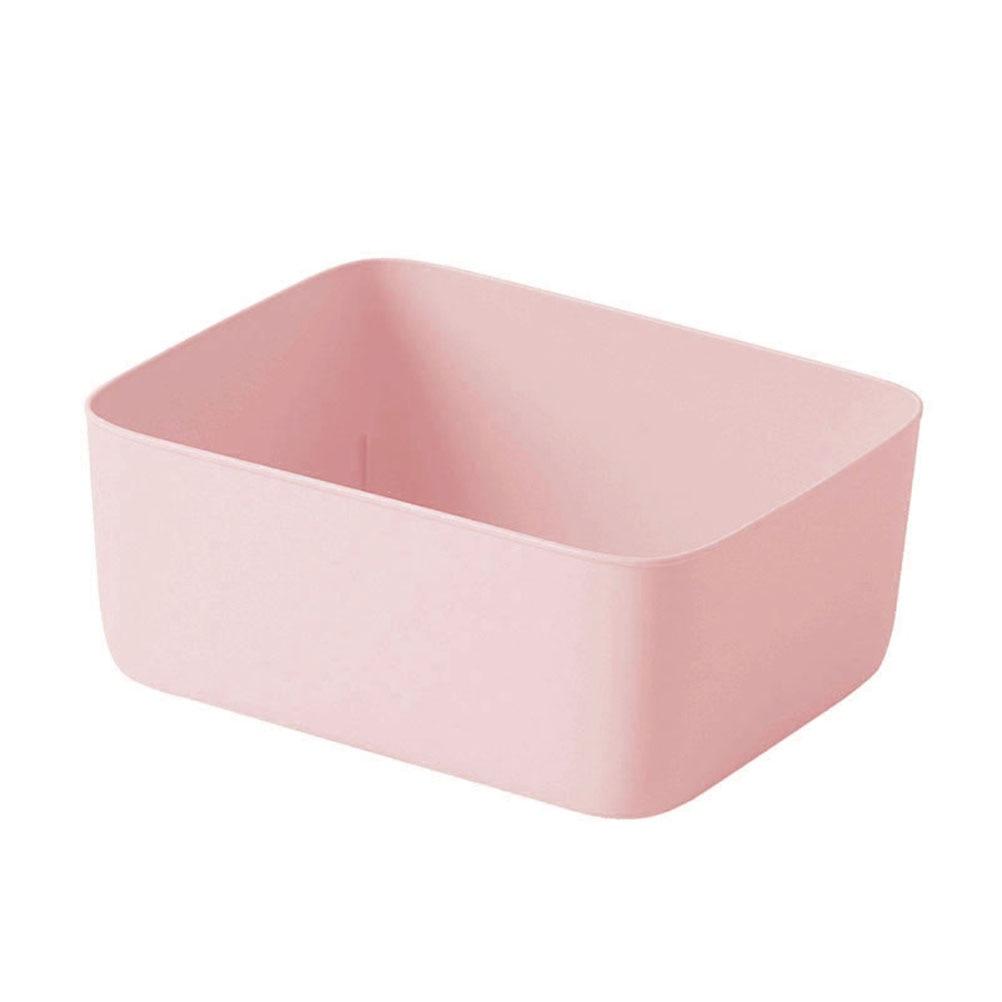 Underwear Storage Box Plastic Storage Basket Stackable Storage Container for Bra Panties Socks(Pink)(China)