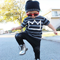 2017 Autumn Spring Infant Clothes Baby Clothing Sets Print model children sport suits Cotton short Sleeve 2pcs Baby Boy Clothes