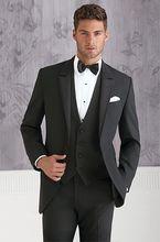 Latest Coat Pant Designs Black Bridegroom Custom Formal Wedding Suits For Men Best Man Slim Fit Gentle 3 Pieces Masculino Q7