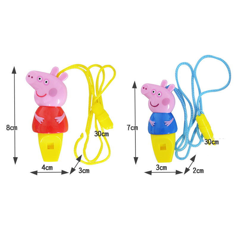 Hot Sale 1pcs Peppa Pig Cartoon Toy Figure Whistle Anime Peppa Pig 8cm Musical Action Figure Toy Kids Birthday Party Gifts Action & Toy Figures