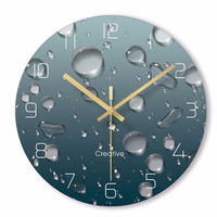 Creative 3D Water droplets Wall Clock Modern Design Living Room Decoration Glass Unique Watch Wall Clocks Home Decor Silent