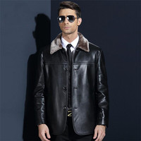 Plus Size Winter Pu Leather Jacket Men Thickening Motorcycle Bomber Faux Leather Coats Male Outerwear Winter Jacket Ds50139
