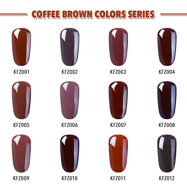 Elite99 10 ml Kaffee Braun Farbe Gel Nagellack Tränken Weg Von UV Elegante Schokolade Braun Nail art Maniküre Gel Lack lack
