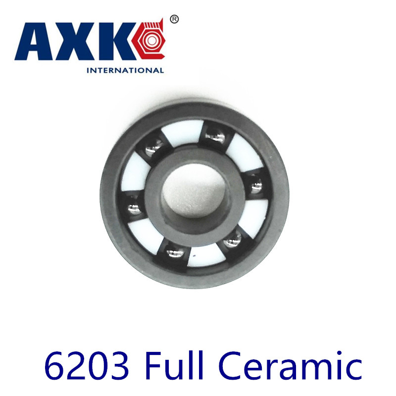 Axk 6203 Full Ceramic Bearing ( 1 Pc ) 17*40*12 Mm Si3n4 Material 6203ce All Silicon Nitride Ceramic Ball Bearings 30203 bearing 17 40 12 mm 1 pc tapered roller bearings 30203 x 7203e bearing