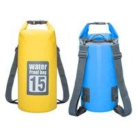 15l 20l Одежда заплыва Водонепроницаемый Сумки хранения сухой мешок для каноэ Байдарка Рафтинг открытый Спортивные сумки Travel Kit оборудование