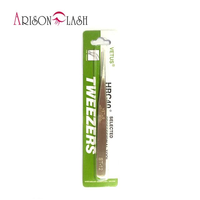 ST-15 or ST-12 1pc 100% Genuine Vetus Tweezer False Eyelash Extension Tweezers Stainless Steel Hyperfine
