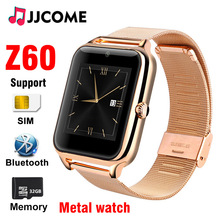 New Smart Watch Men Z60 Bluetooth Dial Call Watches SIM Card TF Metal 1.54 inch Smartwatch Women Sport Pedometer For Android IOS 696 i5s 2 2 inch mtk2502c pedometer tf card extend gsm mp3 mp4 camera dial call
