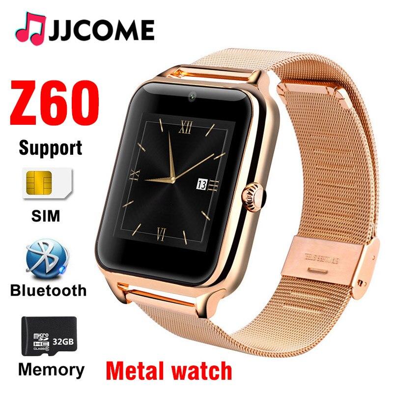 Amabile Nuova Smart Orologio Degli Uomini Z60 Bluetooth Linea Di Chiamata Orologi Sim Carta Di Tf Del Metallo Da 1.54 Pollici Smartwatch Donne Di Sport Pedometro Per Android Ios