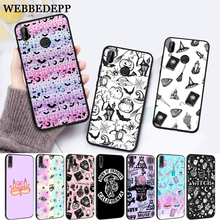WEBBEDEPP Girly Pastel Witch Goth Special Silicone Case for Huawei P8 Lite 2015 2017 P9 2016 Mimi P10 P20 Pro P Smart 2019 P30 все цены