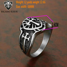 Fashion cross ring  Stainless steel wide face Mens