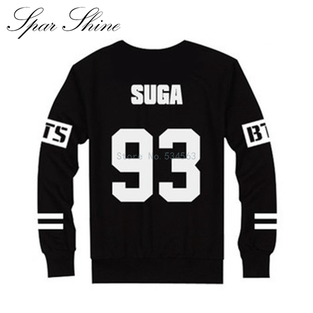 BTS Bangtan Boys 2016 Spring New Fashion Men Hoodies Casual Loose Long Sleeved Tracksuit Sweatshirt Mens Harajuku Suit