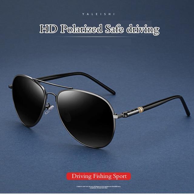 d4446782ba0 2018 Anti-Reflective aviation Polarized Sunglasses Men Sports Sun Glasses  Driving Glasses Goggle Eyewear Male