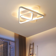 Nordic led lamps modern minimalist geometric triangle creative personality ultra-thin room lamp bedroom living ceiling