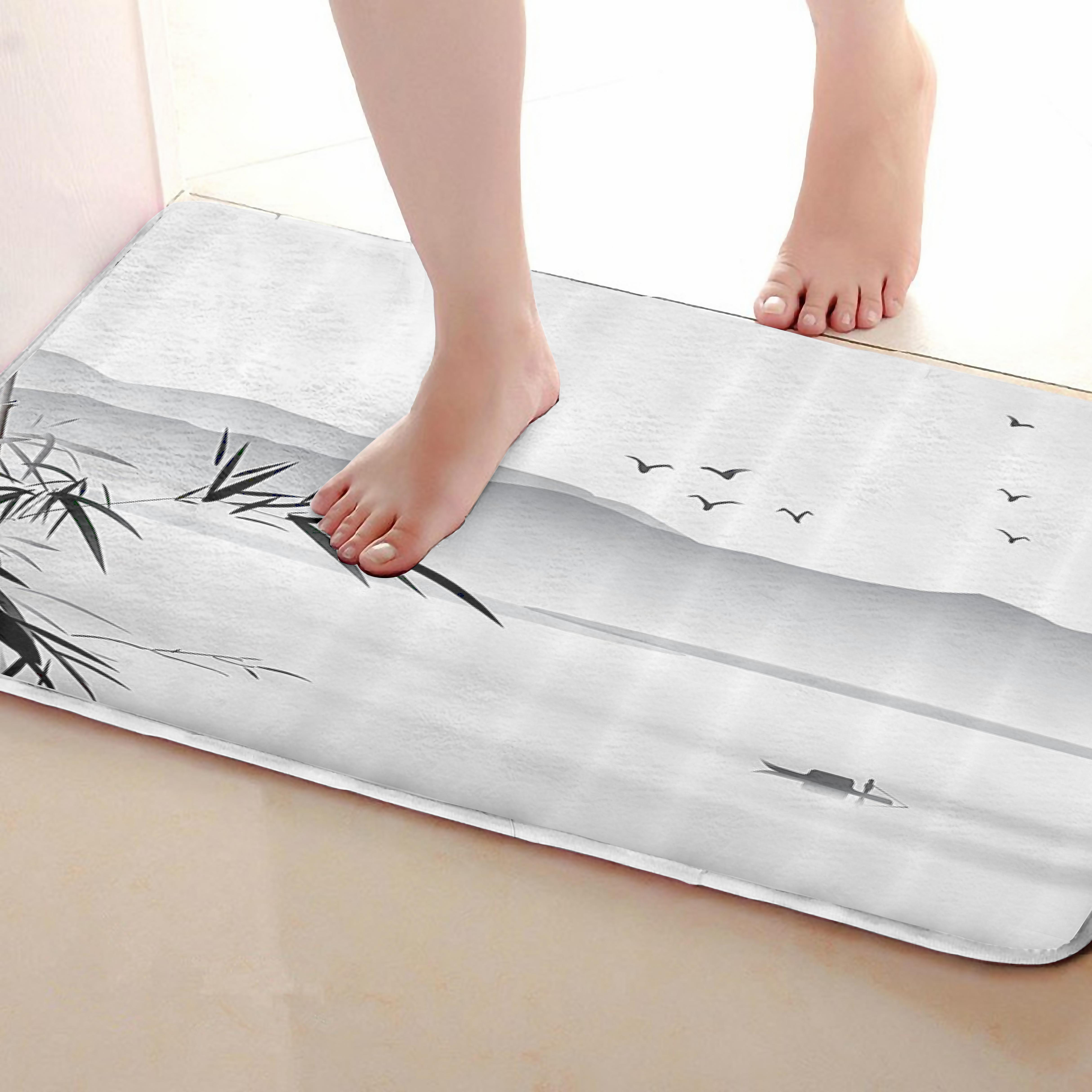 Lnk painting Style Bathroom Mat,Funny Anti skid Bath Mat,Shower Curtains Accessories,Matching Your Shower Curtain