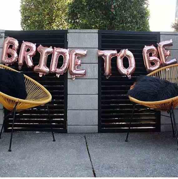 1set di 16 pollici Oro Rosa Sposa di Essere Lettera Palloncini cuore stagnola Palloncino Decorazioni di Nozze Del Partito di Gallina Addio Al Nubilato forniture