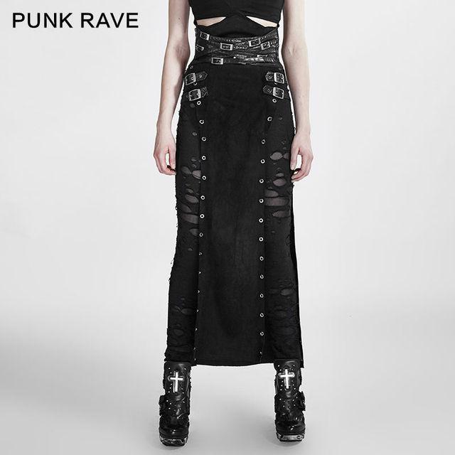 2016 Nueva Punk Rave mujeres Góticas Max falda, ropa Steampunk Roca copslay Q298