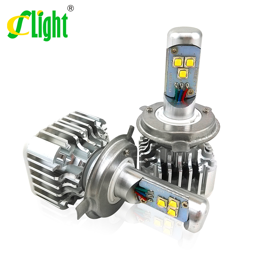 Led Car Headlight H4 9003 HB2 w Cree Chips High Power 30W High and Low Beam