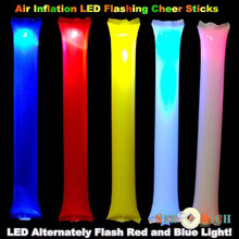 2000pcs Air Inflation LED Flashing Cheering sticks Inflatable Cheers Bar for Concert Football Basketball Fans font