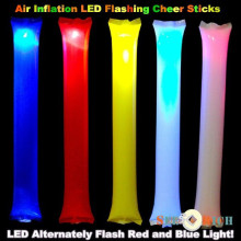 2000pcs!Air Inflation LED Flashing Cheering sticks Inflatable Cheers Bar for Concert,Football,Basketball Fans Cheerleading Props