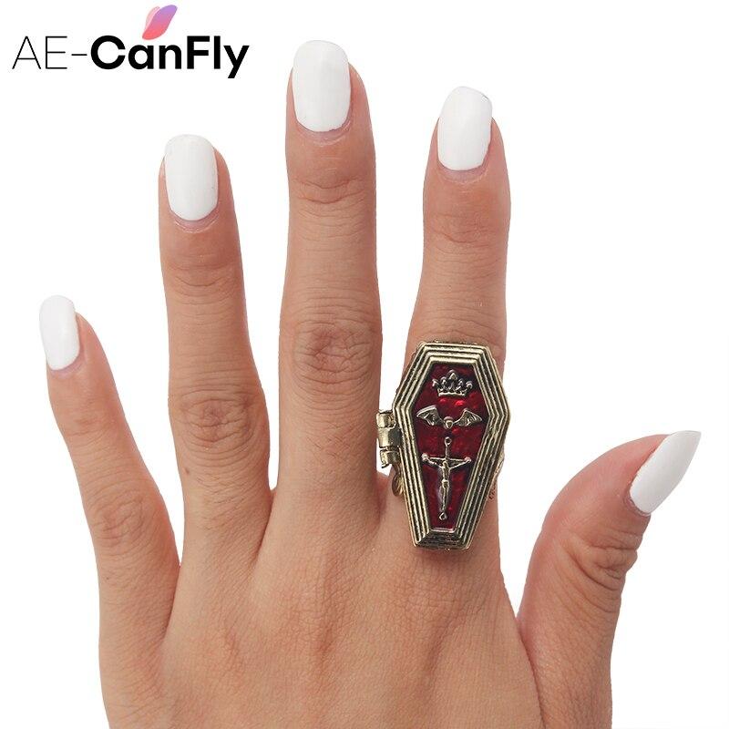 Женские Кольца для хэллоуинские кольца в стиле «летучей мыши», в стиле «Gothic», AE-CANFLY, 2D3005