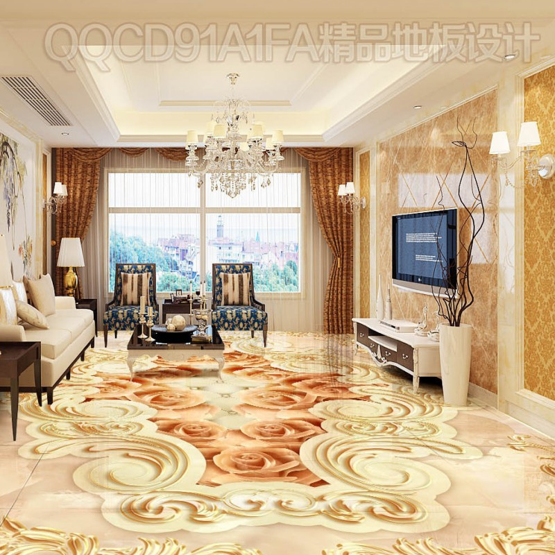 Free shipping custom Need parquet bathroom floor 3D self-adhesive home decoration floor living room bedroom wallpaper mural free shipping marble texture parquet reliefs 3d floor painting lifelike thickened wallpaper self adhesive bathroom mural