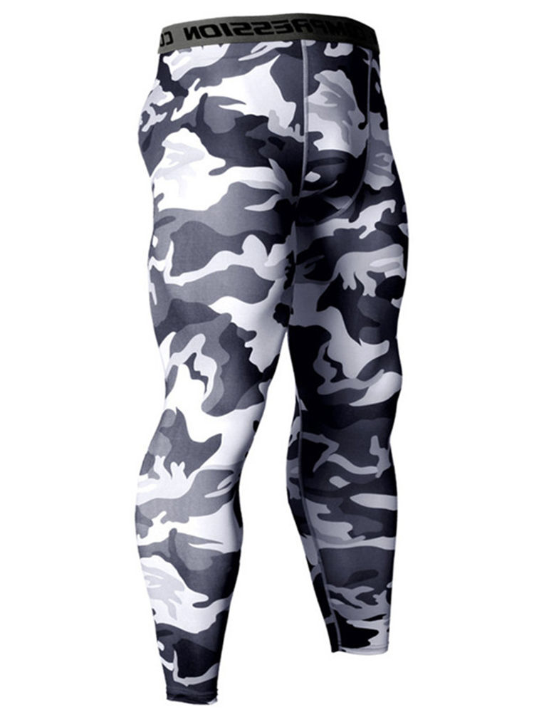 Zoilmxmen Track Suit for Men Sports Mens Camouflage Sports Suit Bodybuilding T-Shirt Fast Drying Tops Pants