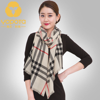 Hongkong Yopota High End Wool Long Scarf Grid Autumn Winter Western Style England Big Name Dual