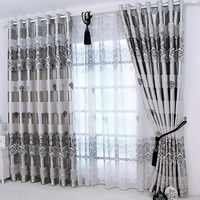 1 pc 2019 New Curtains for Windows Drapes European Modern Elegant Noble Printing Shade Curtain For Living Room Bedroom