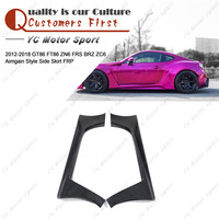 Car Accessories FRP Fiber Glass Aimgain Style Side Skirts Fit For 2012 2018 GT86 FT86 ZN6 FRS BRZ ZC6 Side Skirt Cover