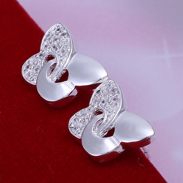 silver plated earrings fashion jewelry earrings beautiful earrings high quality Inlaid Butterfly Earrings zb gc