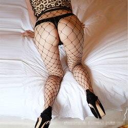 Fashion sexy women hot sheer hole tights slim net lace fishnet stockings sexy lingerie black white.jpg 250x250
