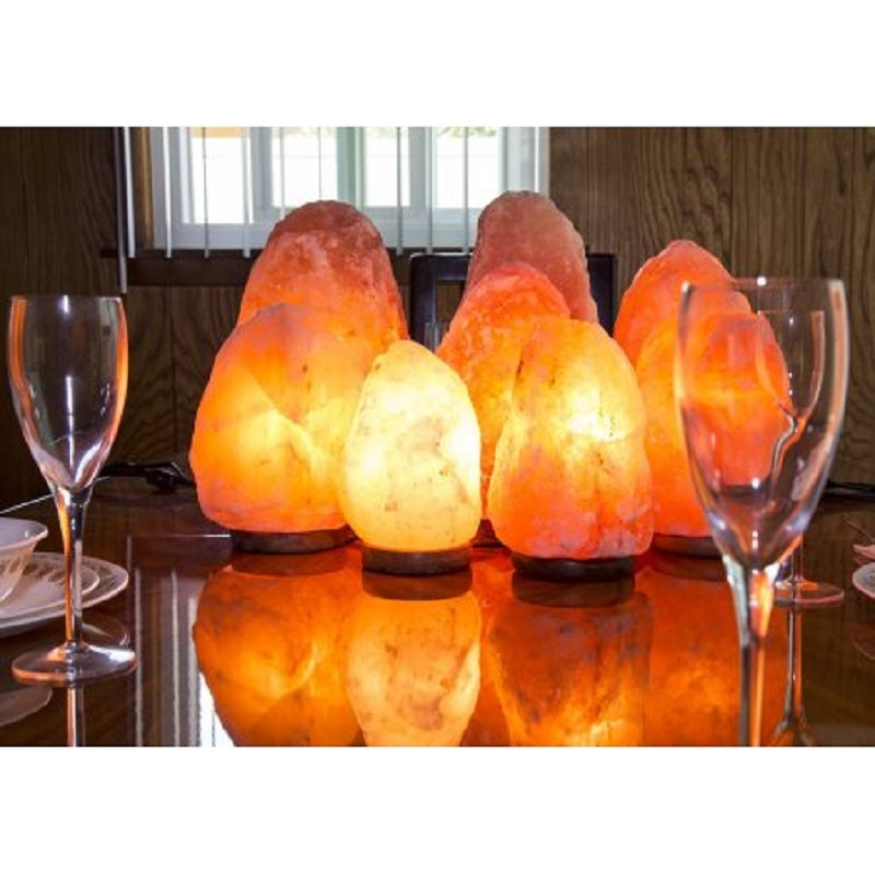 Hand Crafted Rock Lamp Night Light Natural Crystal Salt Lamp Creative Eye Care Small  Release Ion Ionizer Home Decor Light oygroup mini hand carved natural crystal himalayan salt lamp night light cylinder shaped illumilite lamp salt light oy17nl02
