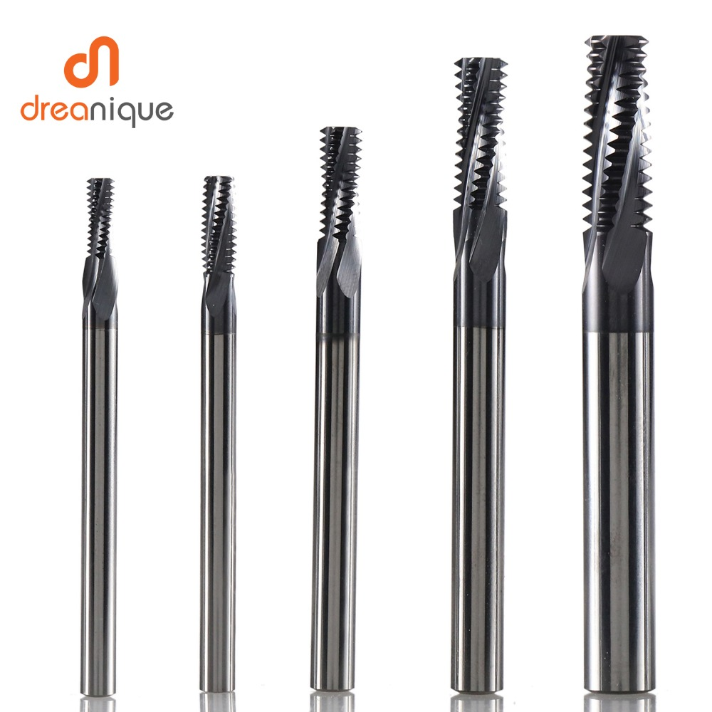 Free Shipping Carbide thread end mills 4F-M3 M4 M5 M6 M8 M10 M12 M14 thread mills, thread milling cutter with TIALN coating osu 2 5 4d 50 4f hrc 60 carbide end mills 1pcs 1lot